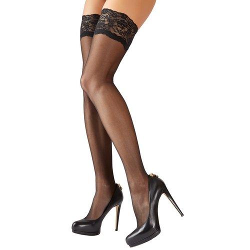Cottelli Collection Stockings & Hosiery Stay Up Kousen met Decoratieve Kanten Rand