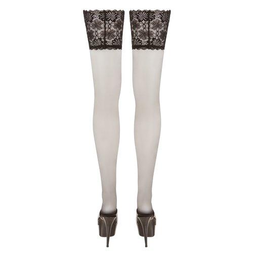 Cottelli Collection Stockings & Hosiery Stay Up Kousen met Bloemen Motief