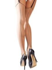 Cottelli Collection Stockings & Hosiery Kousen met Clips voor een Uitzonderlijke Look