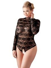 Cottelli Collection Plus Plus Size Kanten Body met Open Kruis