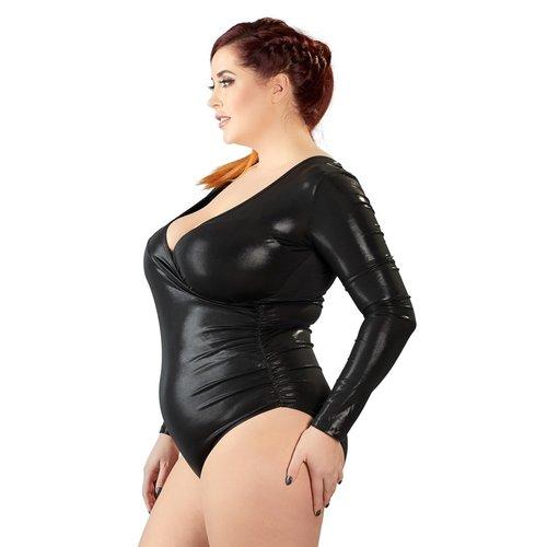Cottelli Collection Plus Plus Size Diep Uitgesneden Body Wetlook Body