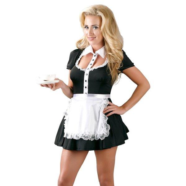 Cottelli Collection Costumes Mini Jurk Dienstmeisje Ontwerp Ondeugend