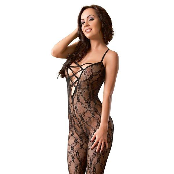 Mandy Mystery Lingerie Catsuit Halter Model Klittenband met open Ontwerp