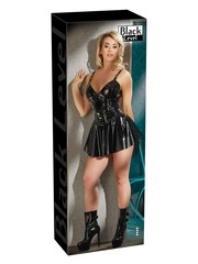 Black Level Kinky Wetlook Korset Rok met Taille Riemen