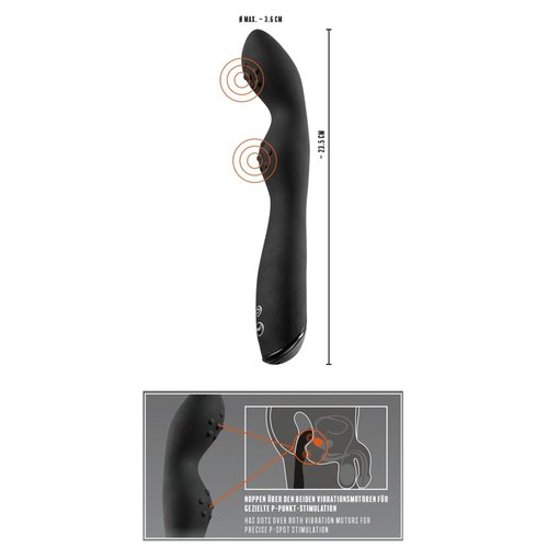 Rebel Dubbele Prostaat Vibrator Flexibel en Stimulerend