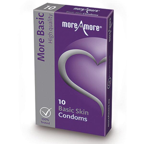 MoreAmore MoreAmore Basic Skin Condooms Glad Textuur