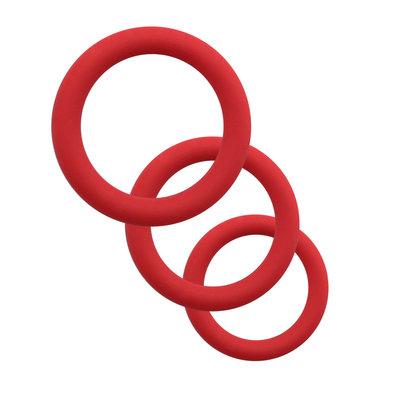Siliconen Penis Ringen Set Rekbaar en Huidvriendelijk