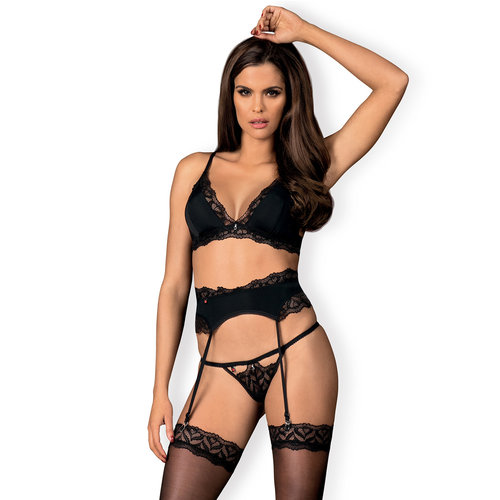 Obsessive Arisha Jarretel Lingerie Set Sexy en Indrukwekkend