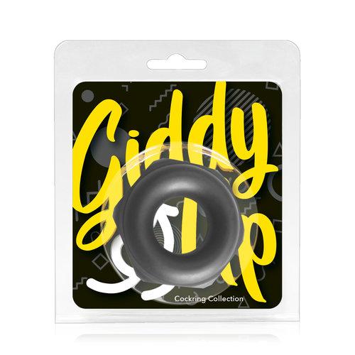 Giddy Up Extra Flexibele Cockring met Ruig en Dik Industrieel Ontwerp