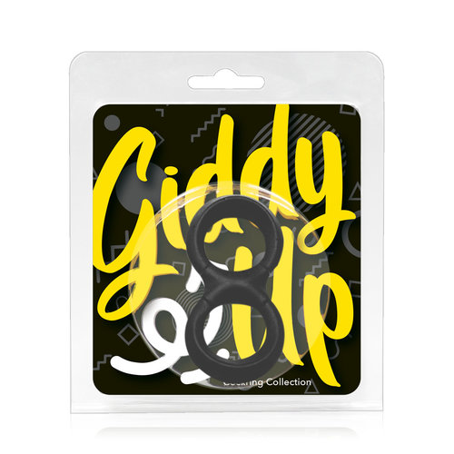 Giddy Up Extra Zachte Cockring en Ballstretcher Ergonomisch en Dik