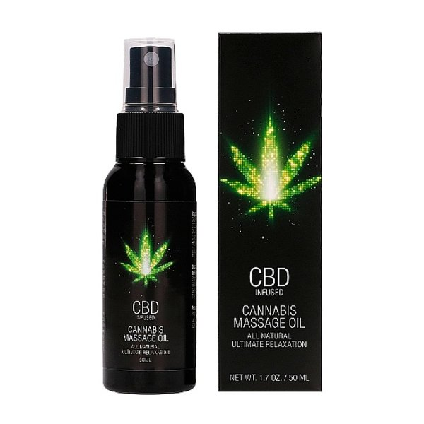 CBD CBD Cannabis Massageolie Spray met Ontspannend Effect 50 ml