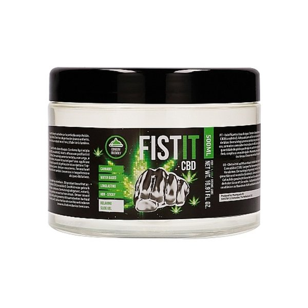 Fist-it CBD Fisting Gel Glijmiddel op Waterbasis 500 ml