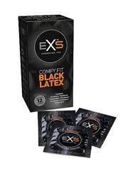EXS EXS Extra Black Latex Geurloze Condooms Niet Doorschijnend 12 stuks