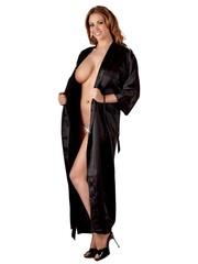 Cottelli Collection Lingerie Nacht Kimono Glossy met Kanten Rugzijde