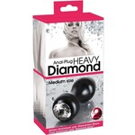 You2Toys Aluminium Buttplug met Diamant Matt Ontwerp