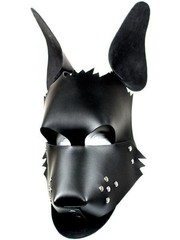Kiotos Leather Leren Masker voor Puppy Play en Pet Play