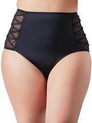 Cottelli Collection Plus Plus Size Hoge Taille Slip met Veters 4XL