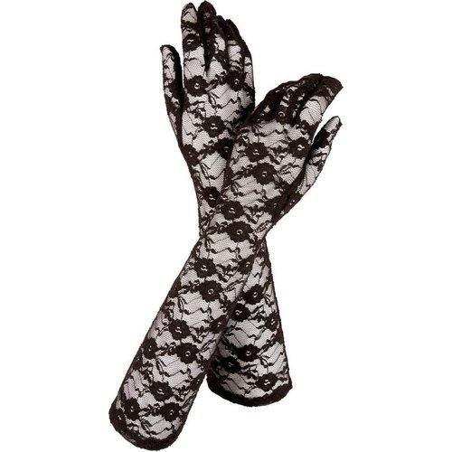 Cottelli Collection Lingerie Body met Kanten Motieven en Handschoenen