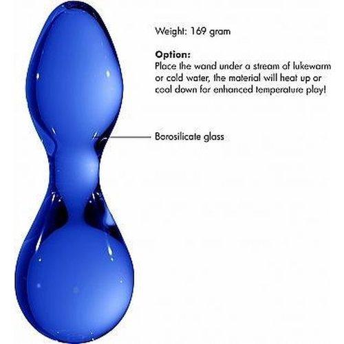 Chrystalino Chrystalino Seed Blue Glazen Butt Plug