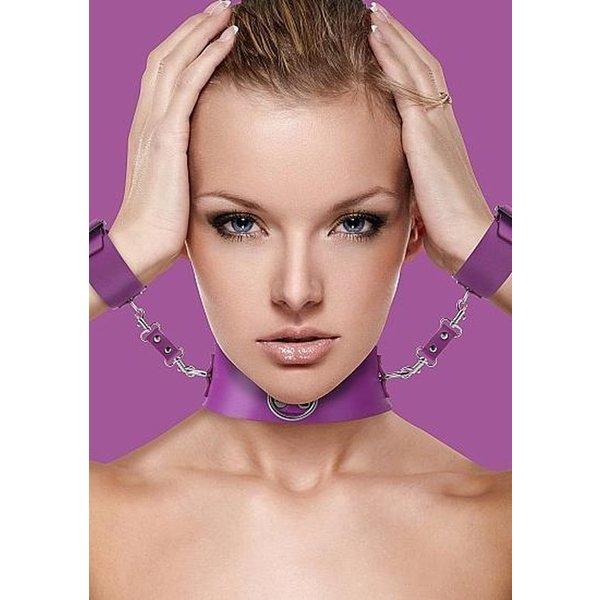 Ouch! Halsband met Polsboeien en O-ring