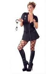 Cottelli Collection Costumes Sexy Politie Mini Jurk Kostuum