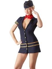 Cottelli Collection Costumes Spannende Stewardess Mini Jurk XS