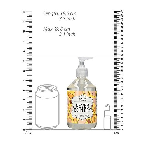 S-Line Anal Lube NEVER GO IN DRY 500 ml