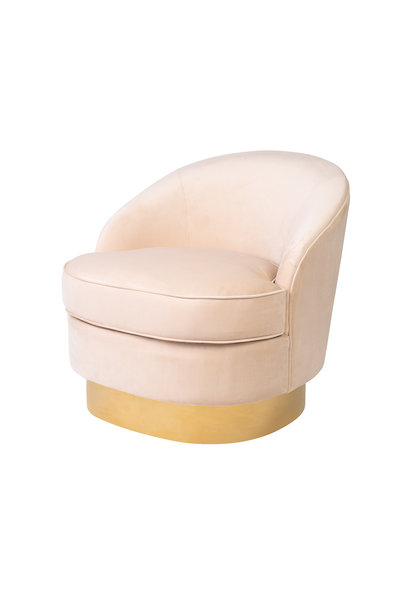 Luxurious Chair Giardion Ivory Velvet