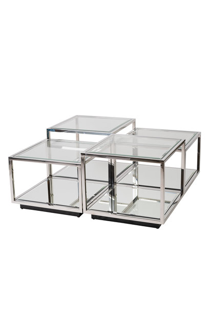Design Coffee Table Luigi Silver (set of 4)