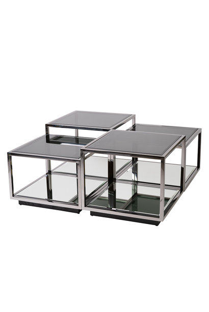 Design Salontafel Luigi Gun Black (set van 4)