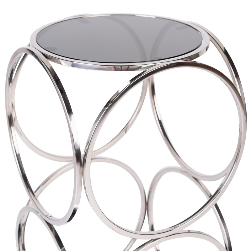 Design Side Table Hutton Silver-2
