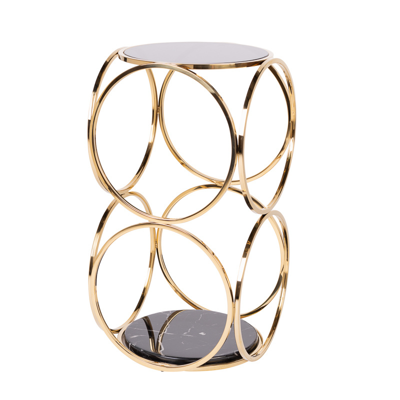 Design Side Table Hutton Gold-1