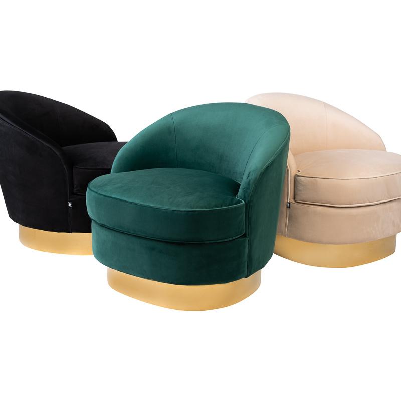 Luxurious Chair Giardion Black Velvet-2