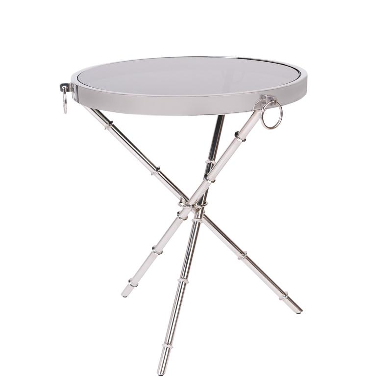 Design Side Table Musa Silver-1