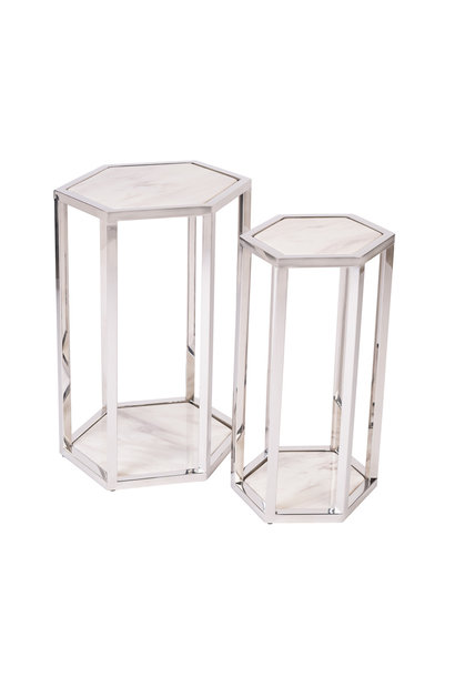 Side Table Ravello Zilver (Set van 2)