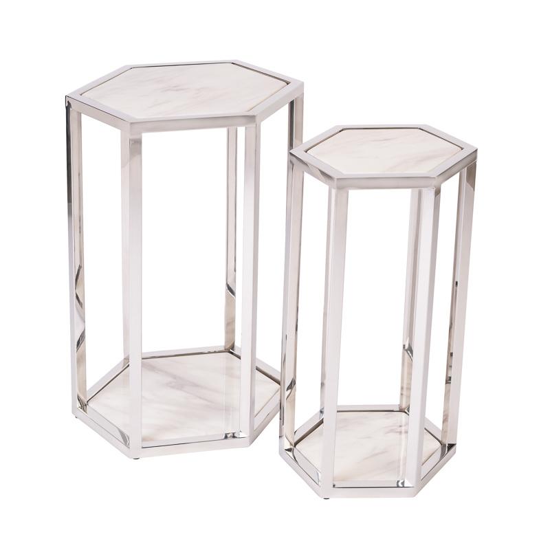 Design Side Table Ravello Silver (Set of 2)-1