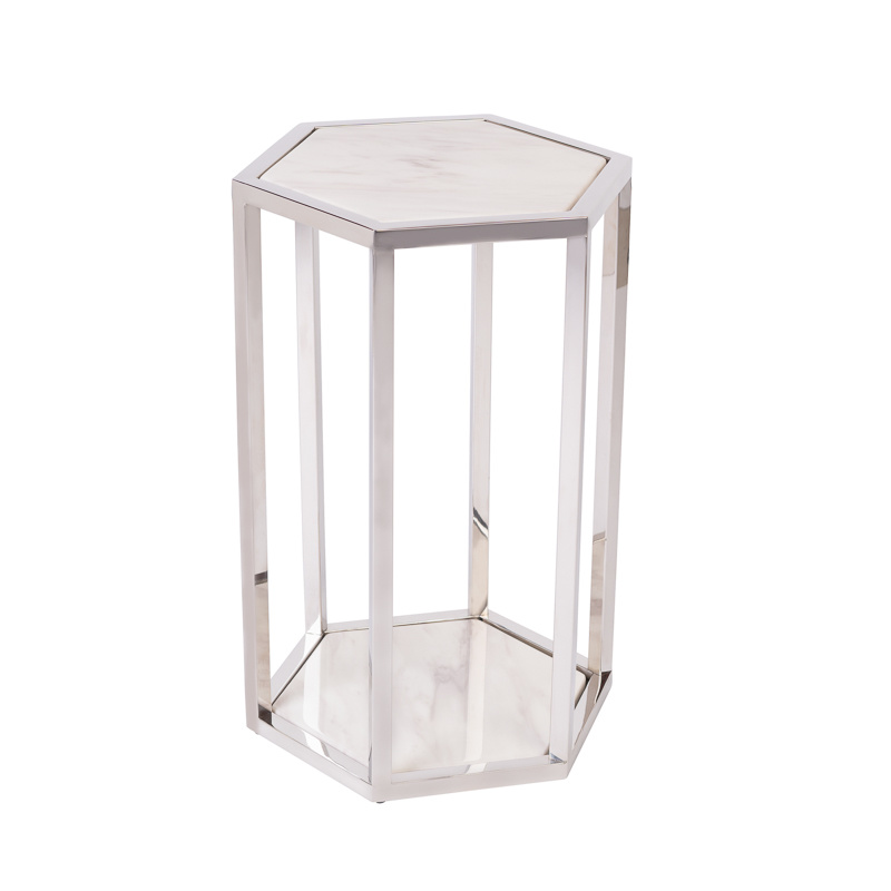 Design Side Table Ravello Silver (Set of 2)-2