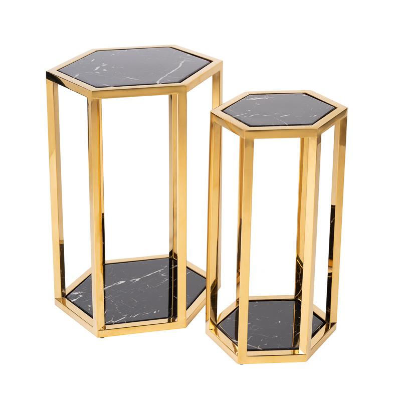Design Side Table Ravello Gold (Set of 2)-6