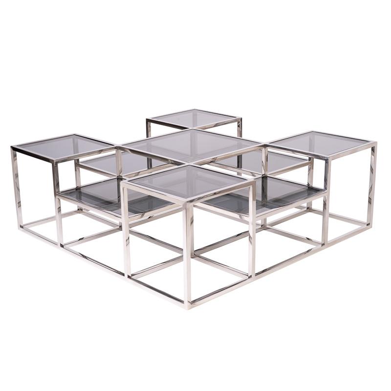 Design Salontafel Astoria Zilver-1