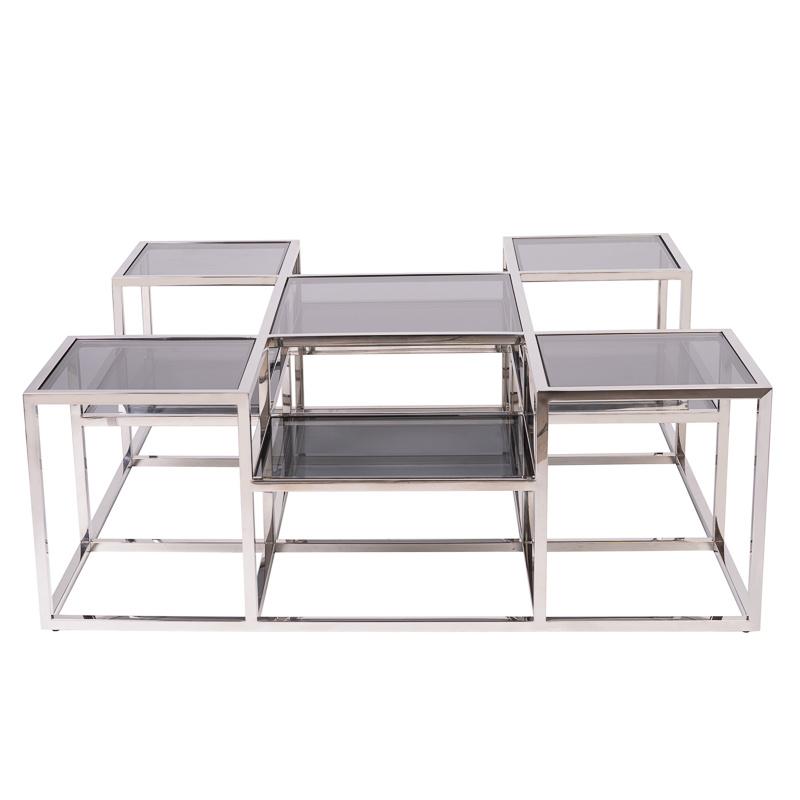 Design Salontafel Astoria Zilver-2