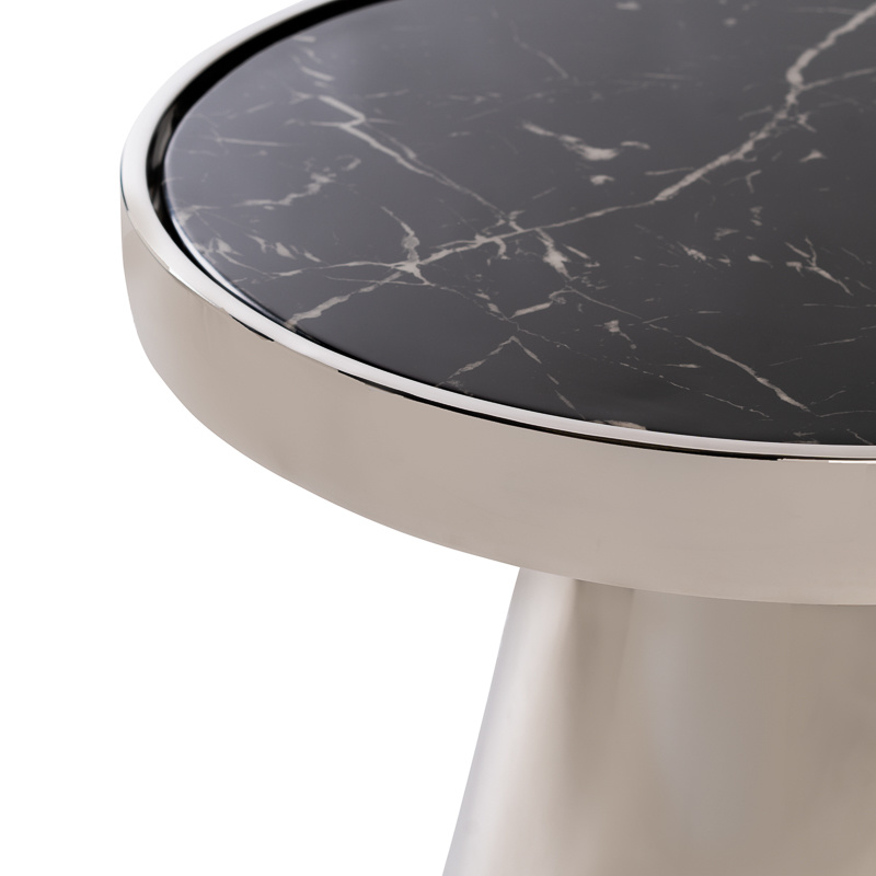 Design Side Table Lunda Black Marble-6