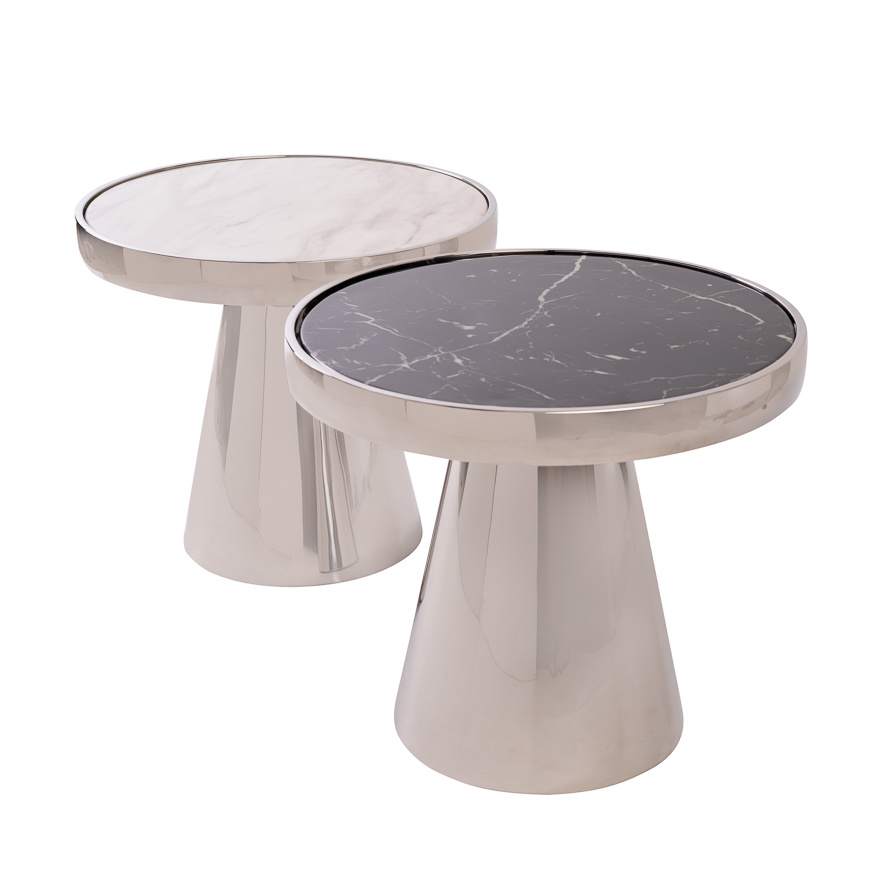 Design Side Table Lunda Black Marble-8