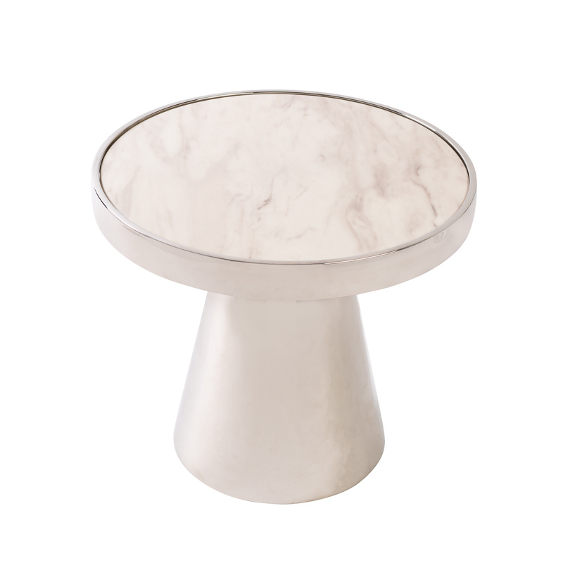 Design Side Table Lunda White Marble-10