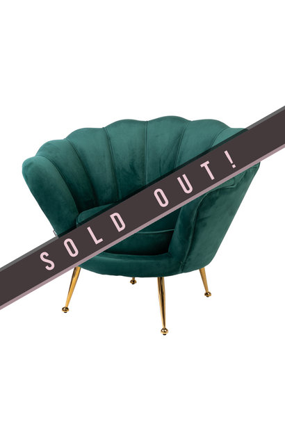 Luxurious Chair Tresor Green Velvet