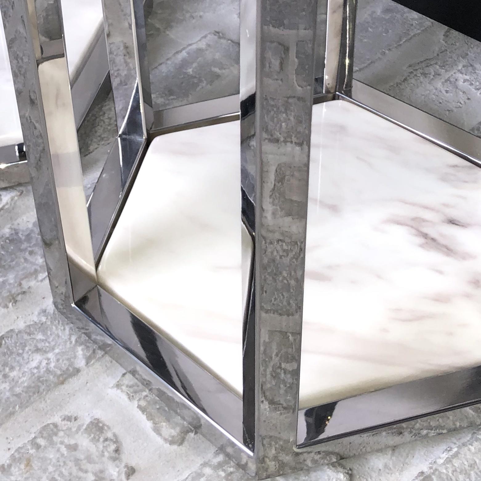 Design Side Table Ravello Silver (Set of 2)-4