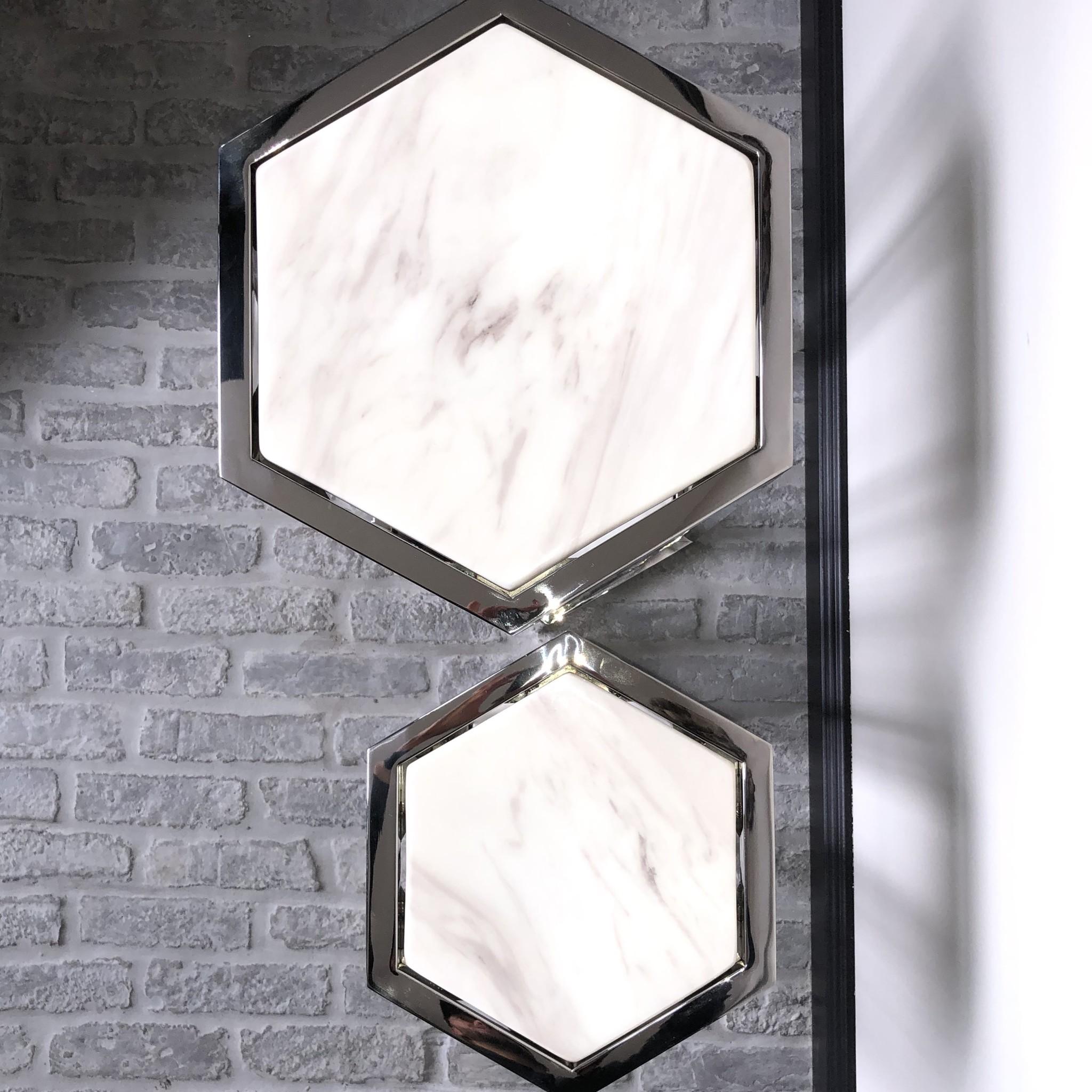 Design Side Table Ravello Silver (Set of 2)-3