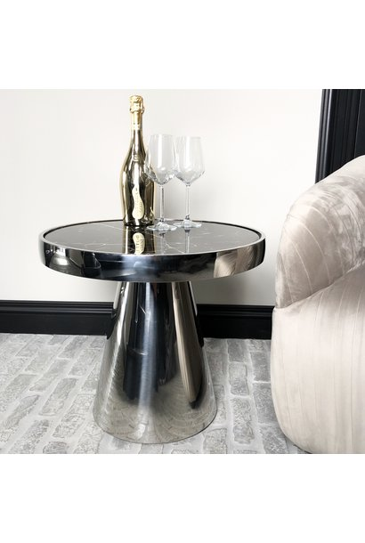 Design Side Table Lunda Black Marble