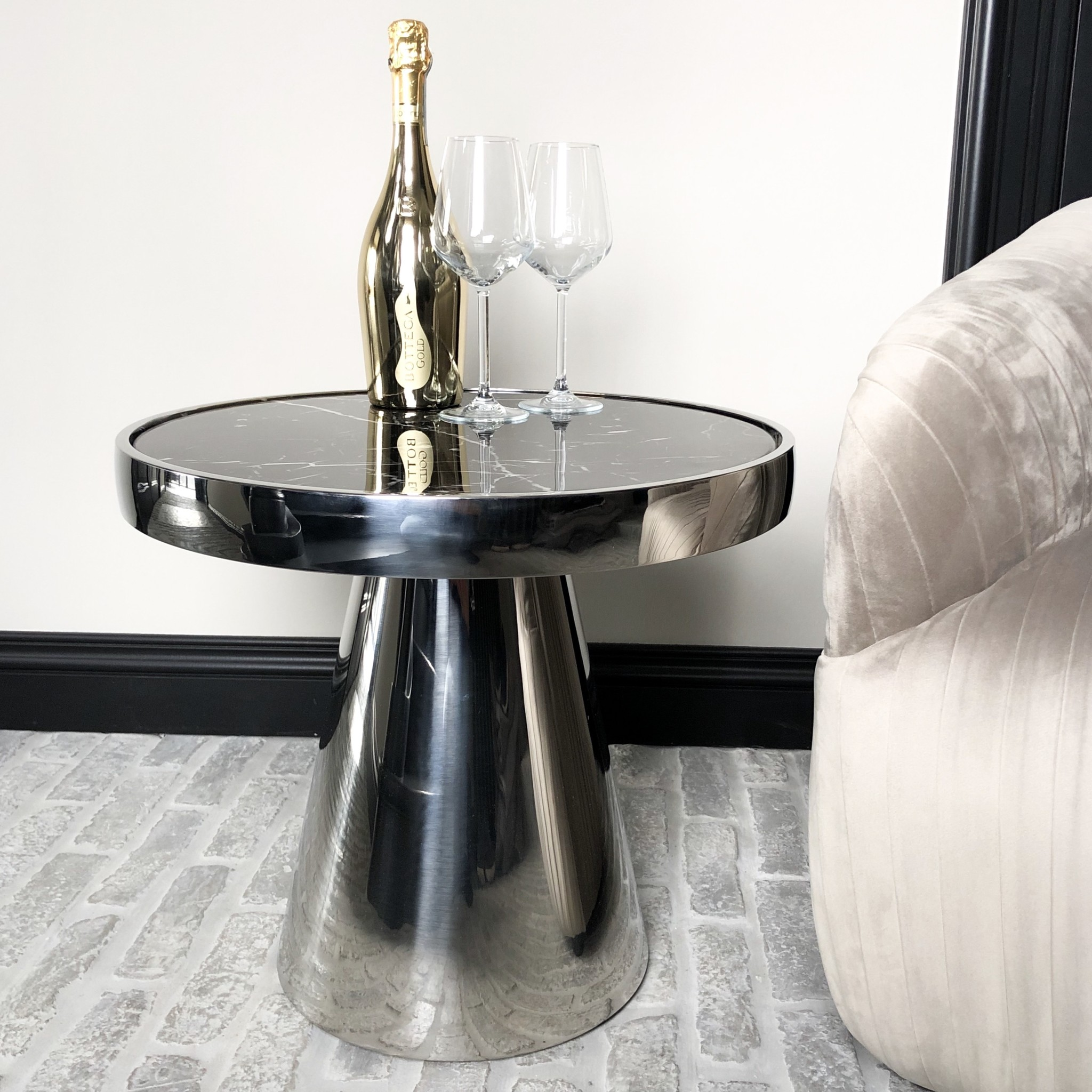 Design Side Table Lunda Black Marble-9