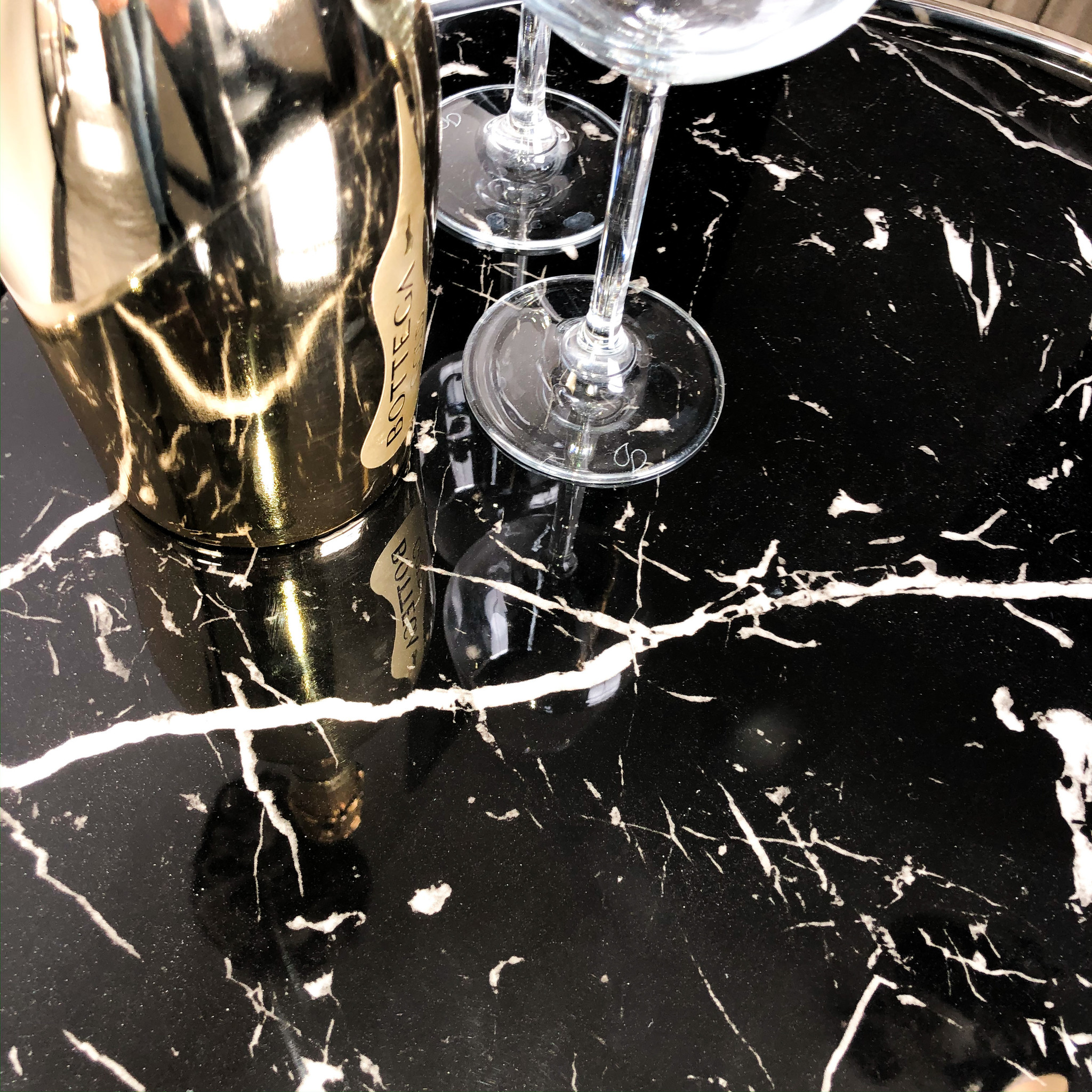Design Side Table Lunda Black Marble-3