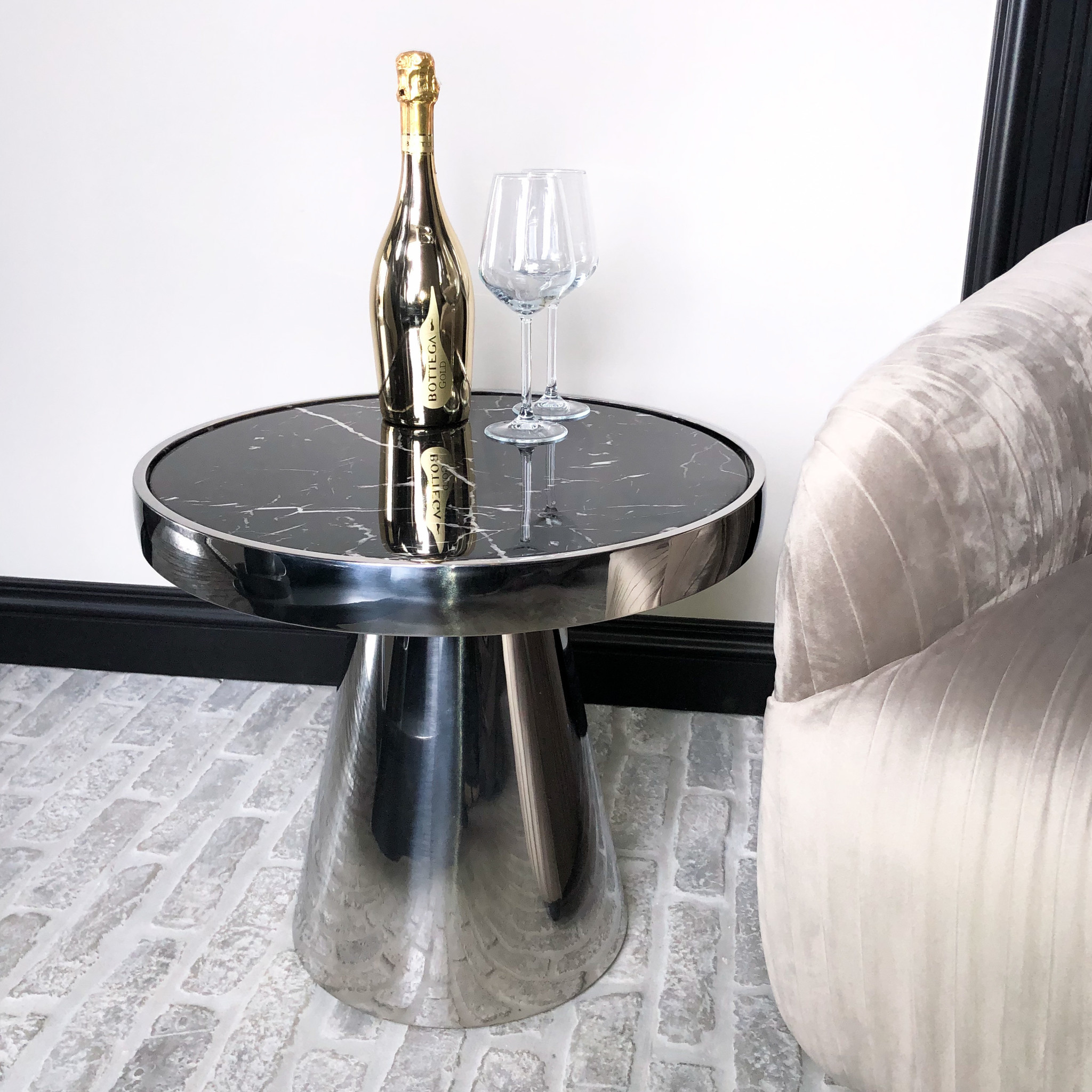 Design Side Table Lunda Black Marble-1